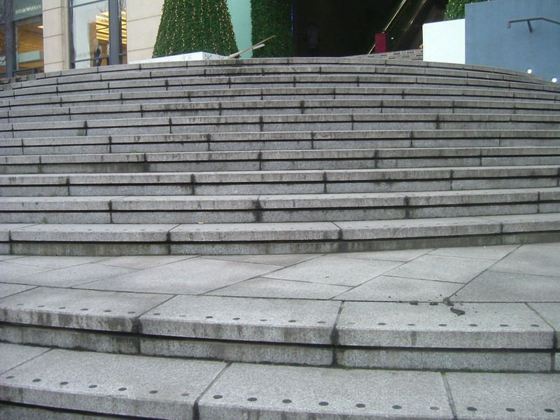 Steps outside a building