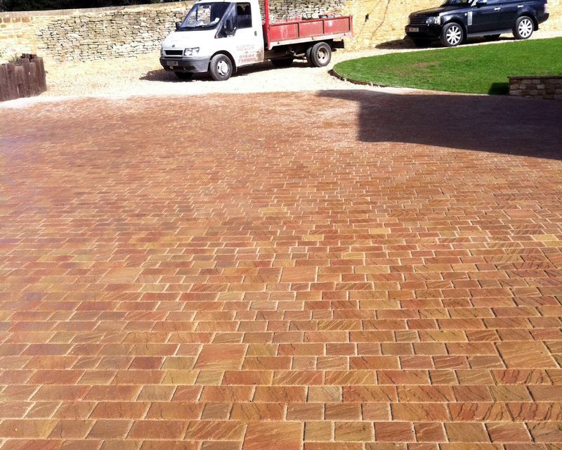 Domestic block paving